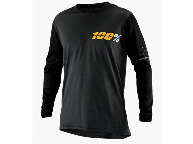100% Ridecamp Fietsshirt lange mouwen Heren, charcoal